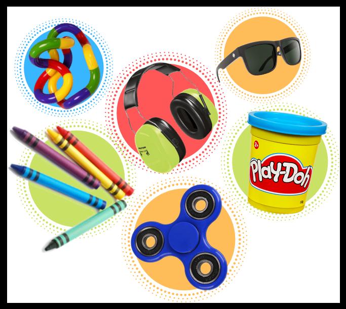 Sensory bag items
