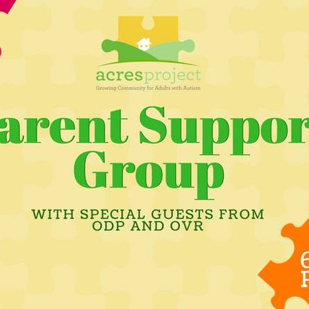 Please join us this Monday evening for an extra special Parent Support Group! Jacki Thornton from OVR will be visiting to discuss programs for 14-21 y