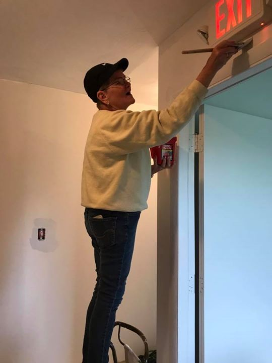 What do you do on a rainy day!!  Come and paint at the ACRES Project!!  The whole Peno Family came out and helped paint the upstairs!!  It is complete