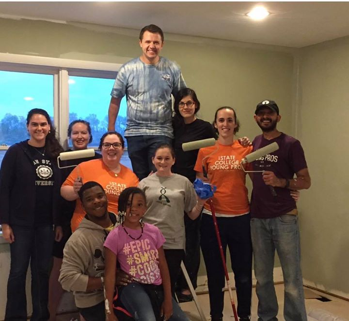 Thank you state college young Professionals!!  You were painting wizards!!