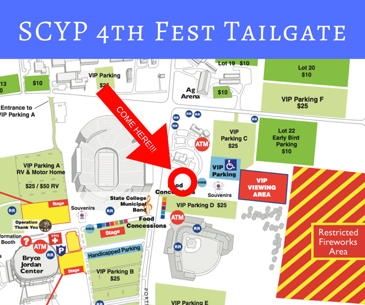 Join SCYP on the 4th for a public tailgate and cornhole tournament to benefit ACRES!