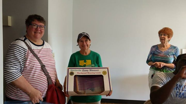 While we were moving in this morning, Meredith Weber visited ACRES and graciously donated her weaving looms to us, along with an offer to teach weavin