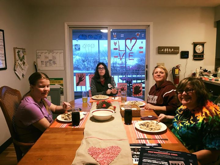The girls cooking with Michelle!!