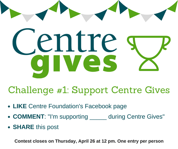 It's almost time for #CentreGives, and you can help ACRES win $250 right now by participating in the first pre-event challenge! Make sure to follow AL