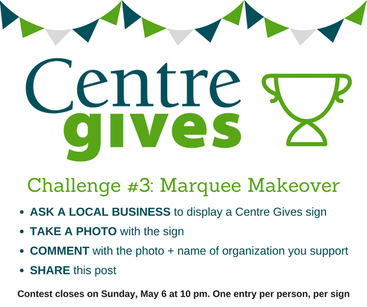 Centre Gives is less than a week away! Let's try to win this pre-event prize!