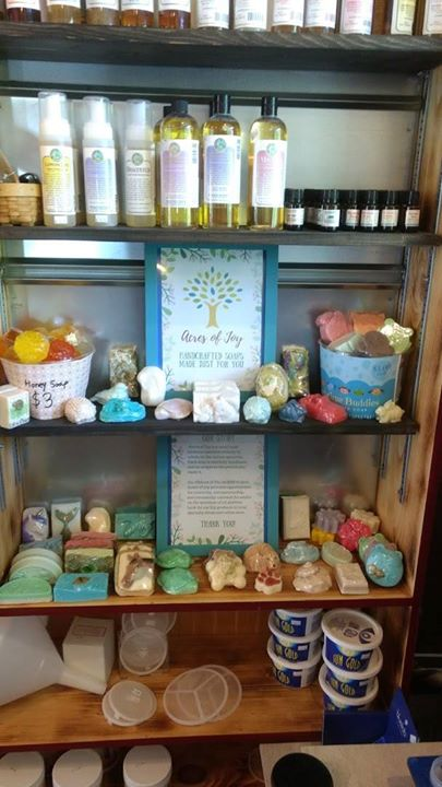 "Our ""Acres of Joy"" handmade soaps are now available at The Barn at Lemont! Acres of Joy is a small business operated entirely by adults on the autism"