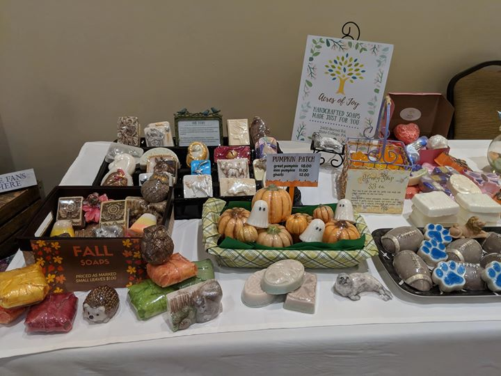 Acres of Joy, our soapmaking entrepreneurship program, will be selling their handmade fall-themed soaps at the Pine Grove Mills Harvest Festival, held