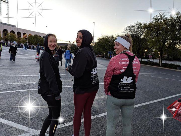 Thru rain,wind,and very cold temps Karla Armendariz Savannah, and Chamber Lyn ran in the Hershey Half marathon!!!! Way to go!!  Thank you to Fernsler