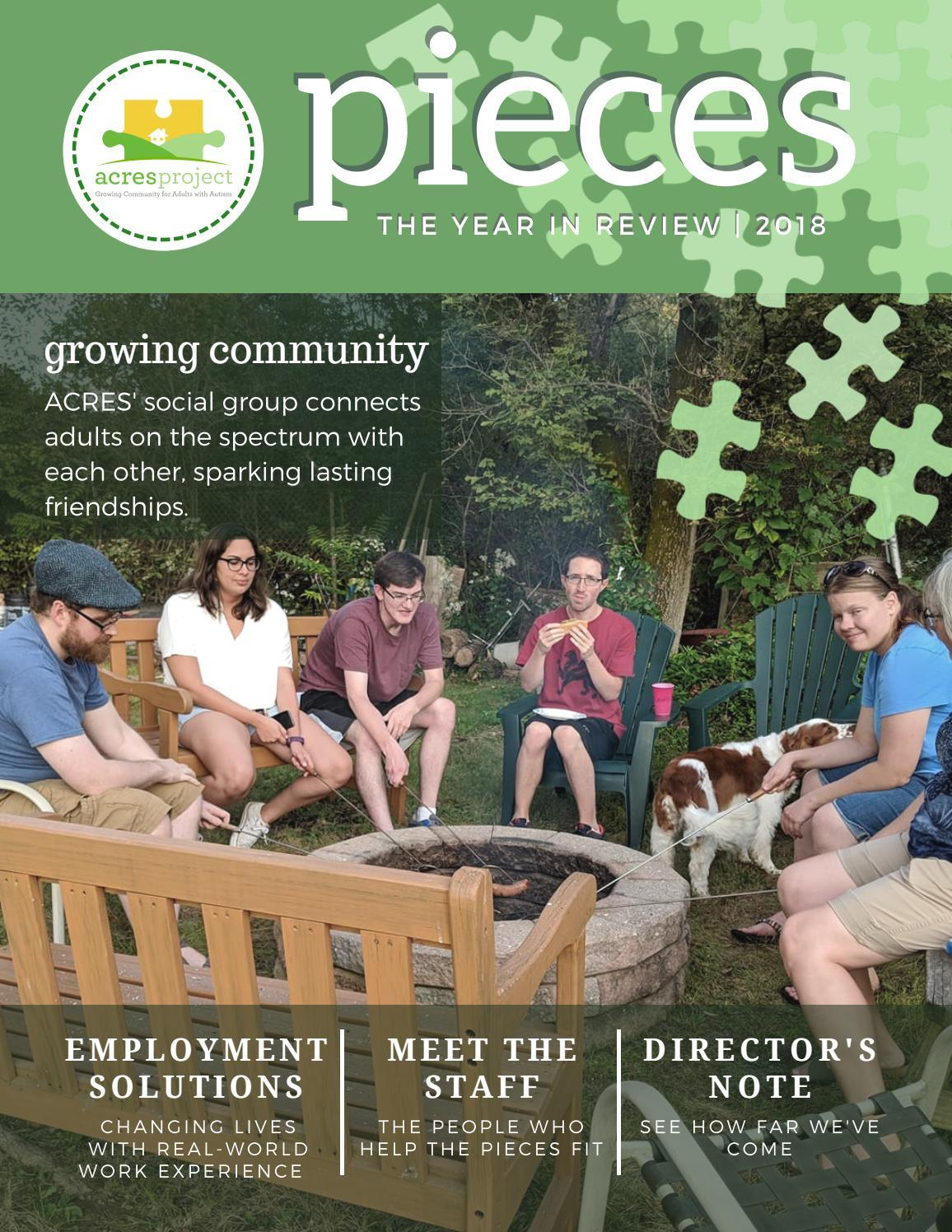 2018 has been a great year for The ACRES Project! Flip through our first ever issue of Pieces, our digital magazine, to see what we've accomplished to