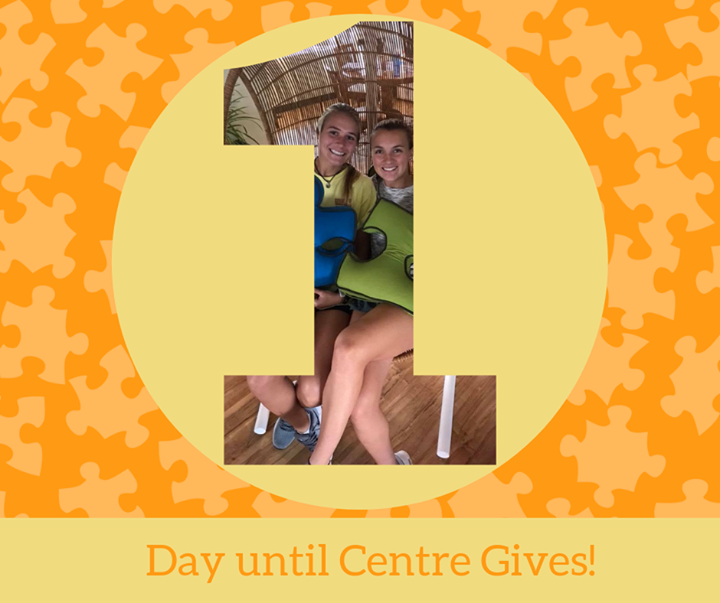 Centre Gives starts TOMORROW! Help us continue to spread autism awareness -- and acceptance -- through our internship program and community volunteeri