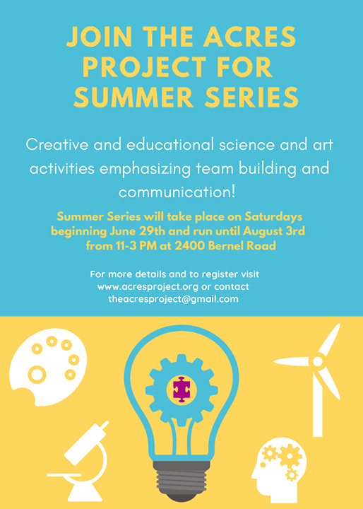 Summer's right around the corner, and so is our 2nd annual Summer Series! ☀️  Individuals of all ages and abilities are invited to join us this summer