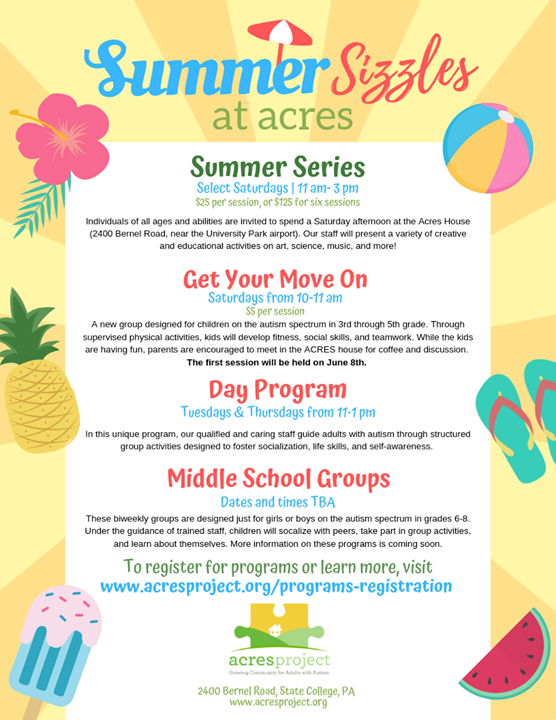 ☀️Registration is now open for our summer programs!☀️  Along with the return of our popular Summer Series and Day Program, we're proud to introduce so