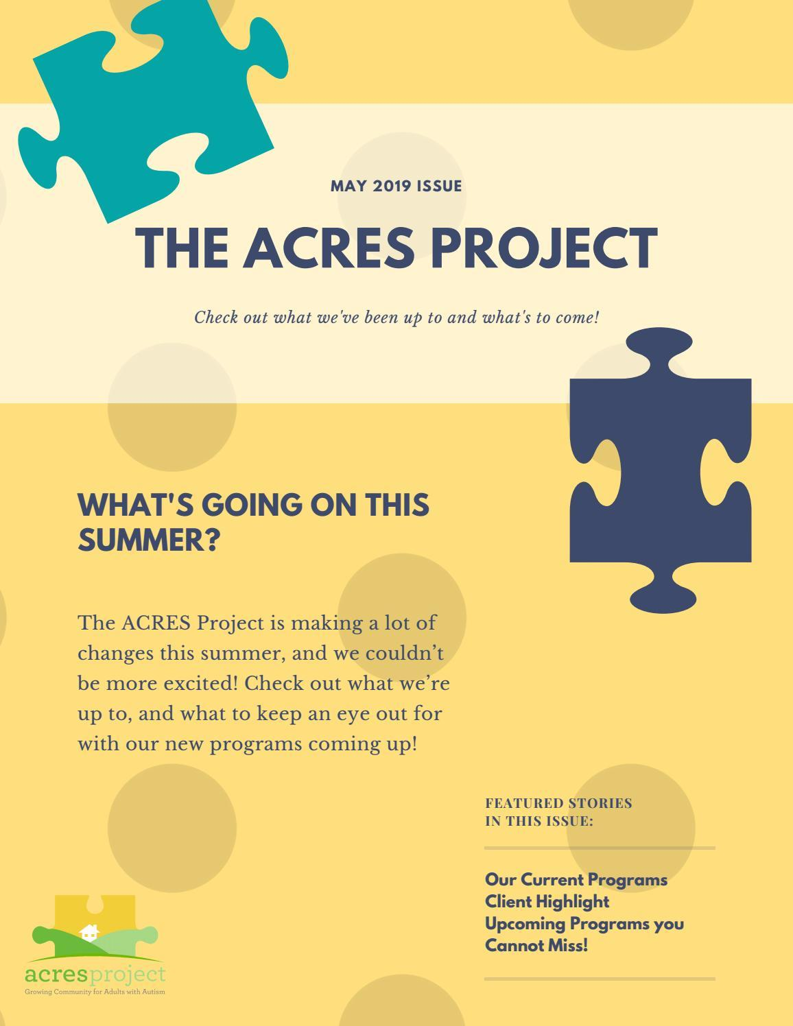 Click on the link below to check out our latest ACRES newsletter!