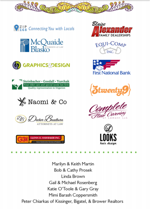 """A very big Thank You to our """"Groovy"""" sponsors for the ACRES of Music: The Music of Woodstock benefit show coming up this Saturday at The State Theatre"""
