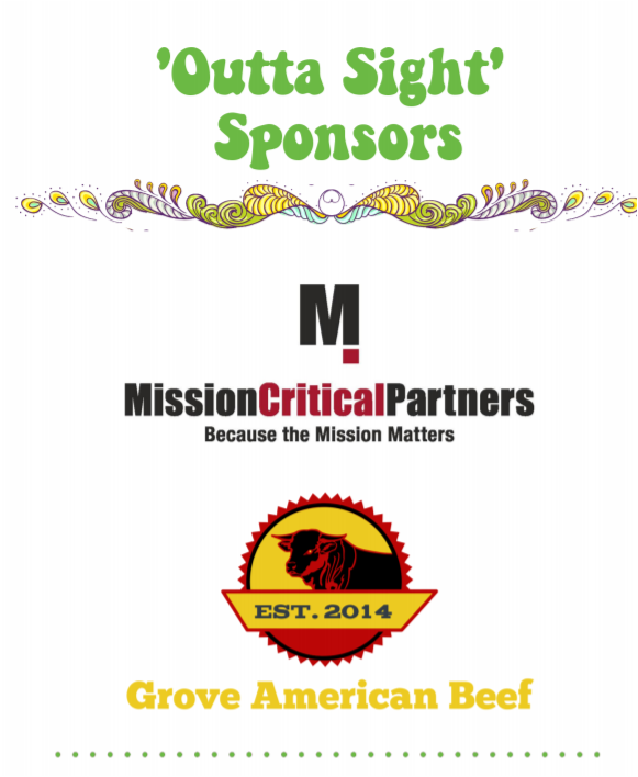 """Thank you to our """"Outta Sight"""" sponsors who are supporting our benefit show tonight at The State Theatre!"""