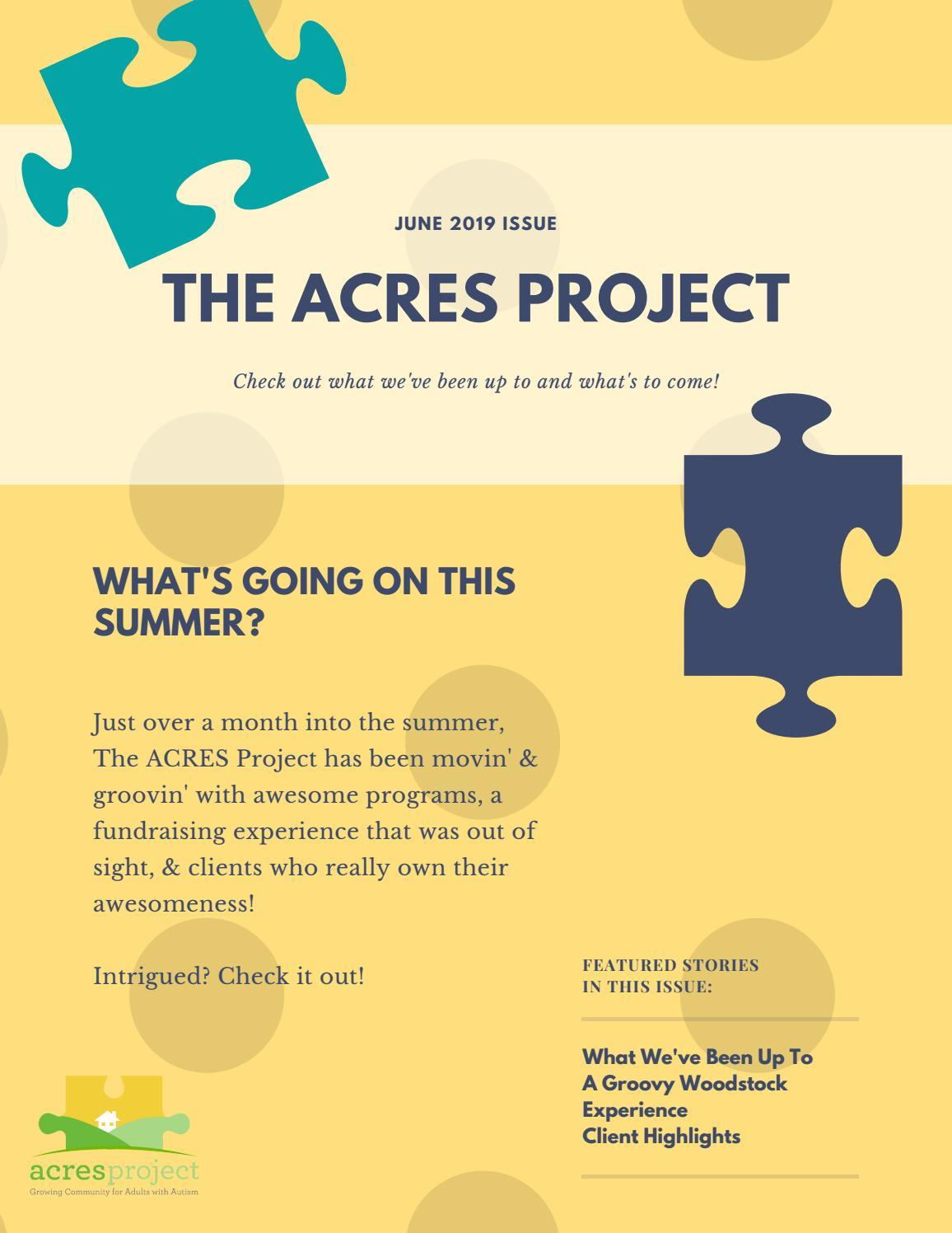 Our latest newsletter is live! Check out what ACRES has been up to this summer, and what's to come!