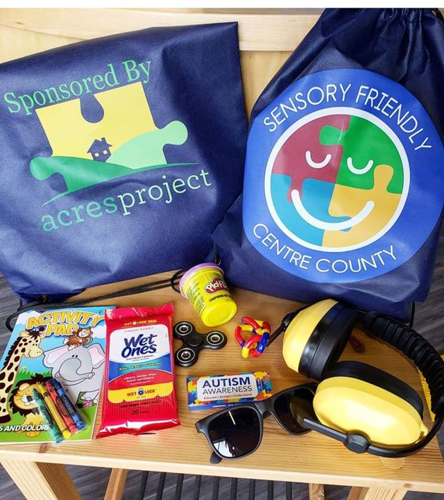 Sensory Bags contain items that help people with sensory processing disorders interact with the world. They are available for free to organizations th