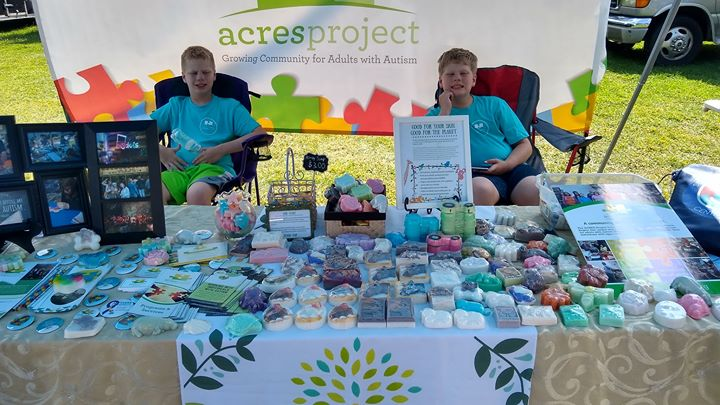 We're ready to sell soaps and raise awareness at the Grange Fair today! Stop by strongman competition at the Wellness Court and say hi!