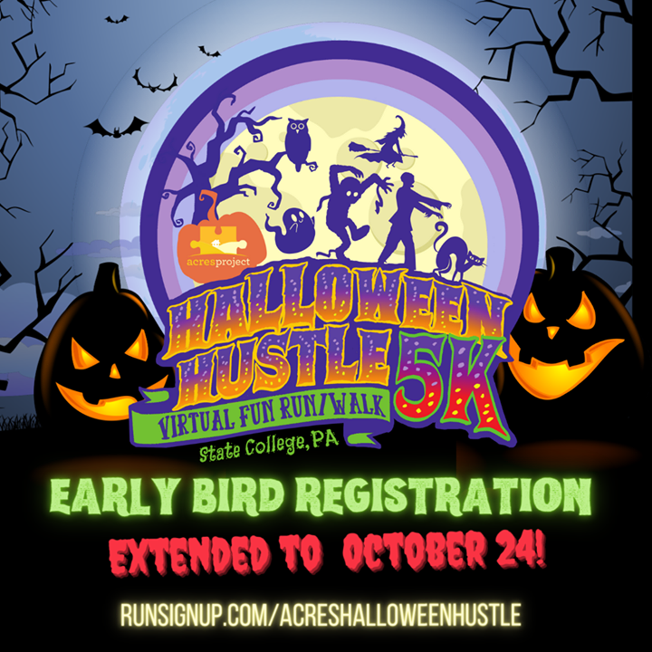 Still haven't registered for the #ACRESHALLOWEENHUSTLE yet? Never fear -- we've extended the special early-bird rate to October 24th! Sign up today at