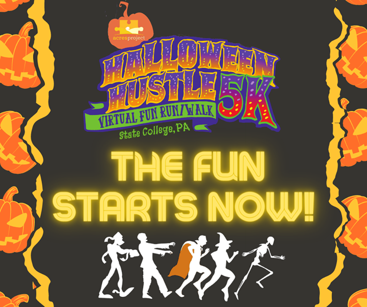On your mark... get set... BOO! The #acreshalloweenhustle starts NOW!   You have until the end of the day on Halloween to register if you haven't alre