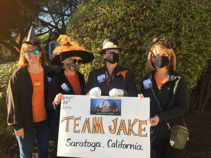 Team Jake dressed up in their Halloween best for the #acreshalloweenhustle all the way from sunny Saratoga, California! They've also been our top fund