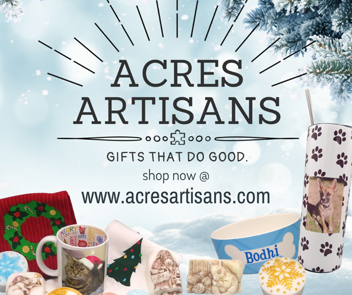 Just in time for Cyber Monday, ACRES is is happy to launch Acres Artisans, our brand new online store for small businesses operated by artists and ent