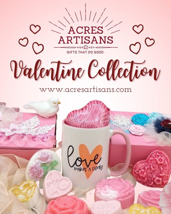 Looking for a special gift this Valentine's Day? Head to  www.acresartisans.com/collections/valentines to shop Acres Artisan's new Valentine collectio