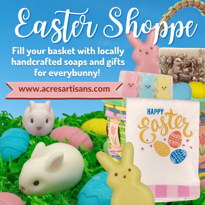 If you're looking for basket stuffers this Easter, our friends at Acres Artisans have something for everybunny!